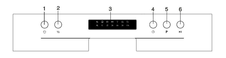 White Knight DW1460WA Control Panel Diagram