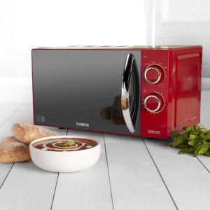 tower red microwave