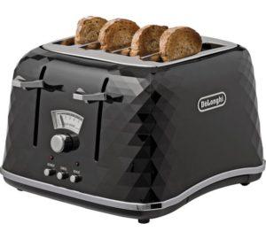 De'Longhi Brillante CTJ4003BK 4-Slice Toaster
