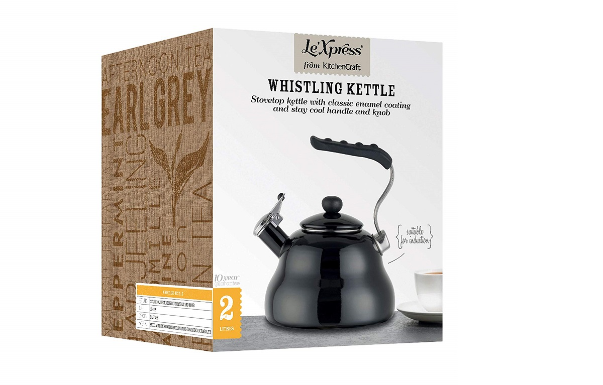 KitchenCraft Le'Xpress Induction-Safe Whistling Stovetop Kettle