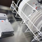 Dishwasher detergent tray