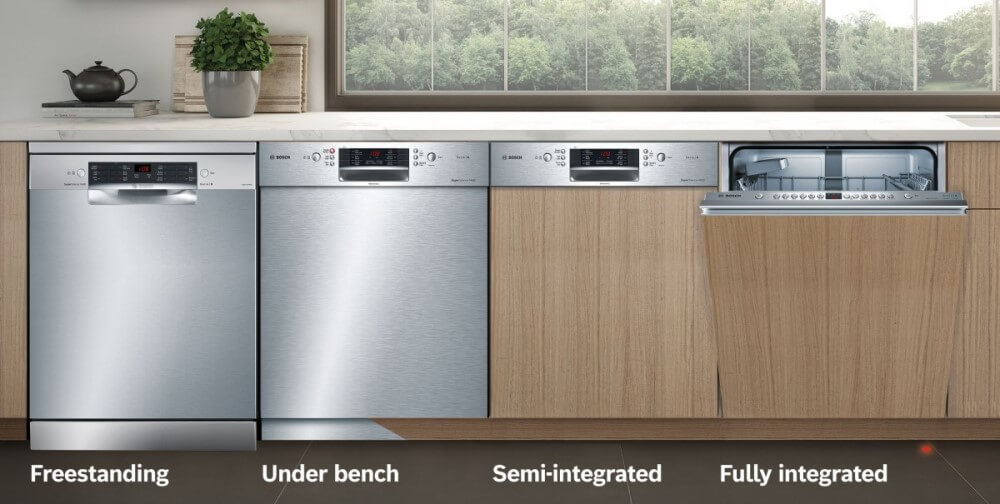 Different dishwasher types (image by Bosch)