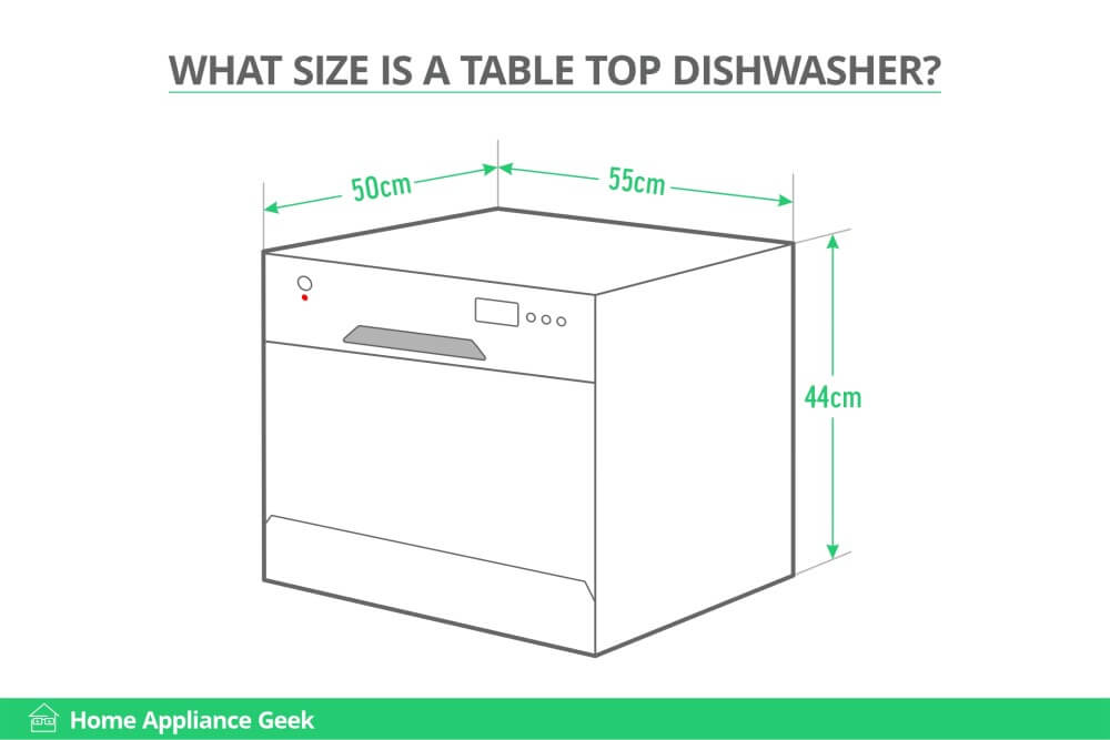 What Size Is A Table Top Dishwasher